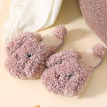 Cartoon Graphic Fluffy Slippers