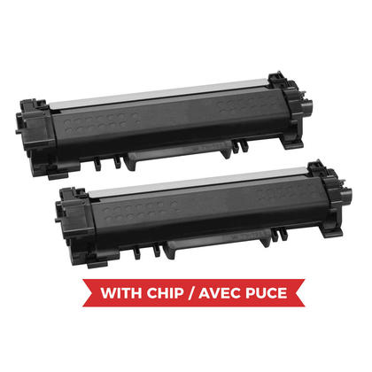 Compatible Brother TN730 Black Toner Cartridge - With Chip - Economical Box - 2/Pack