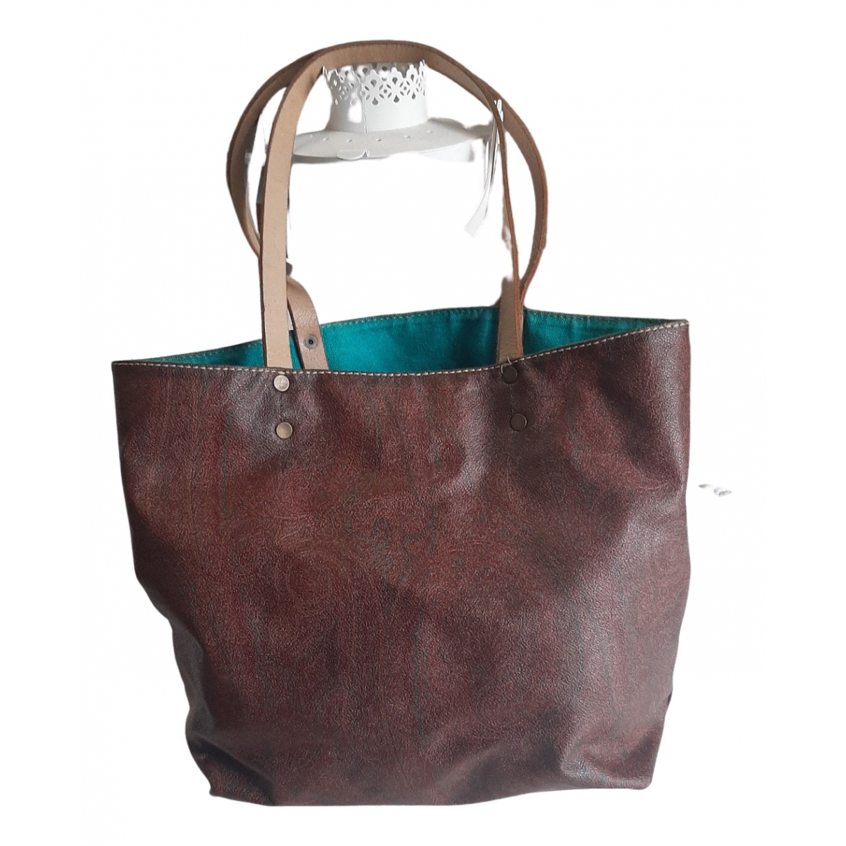 Etro N Burgundy Leather handbag for Women N