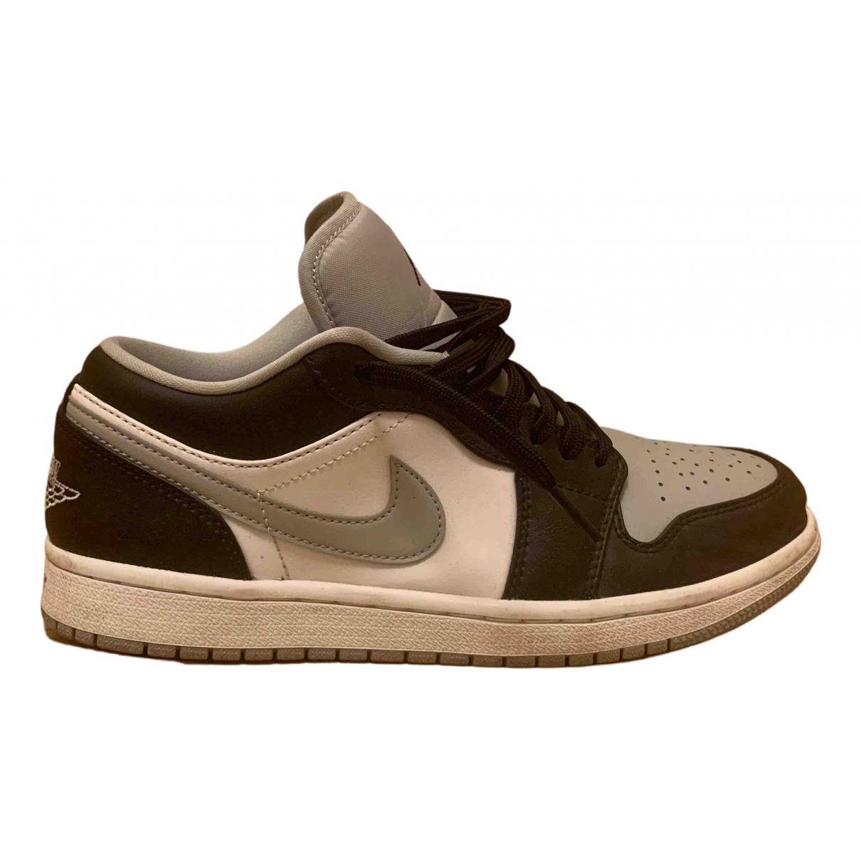 Jordan - Baskets Air Jordan 1  pour homme en cuir - gris