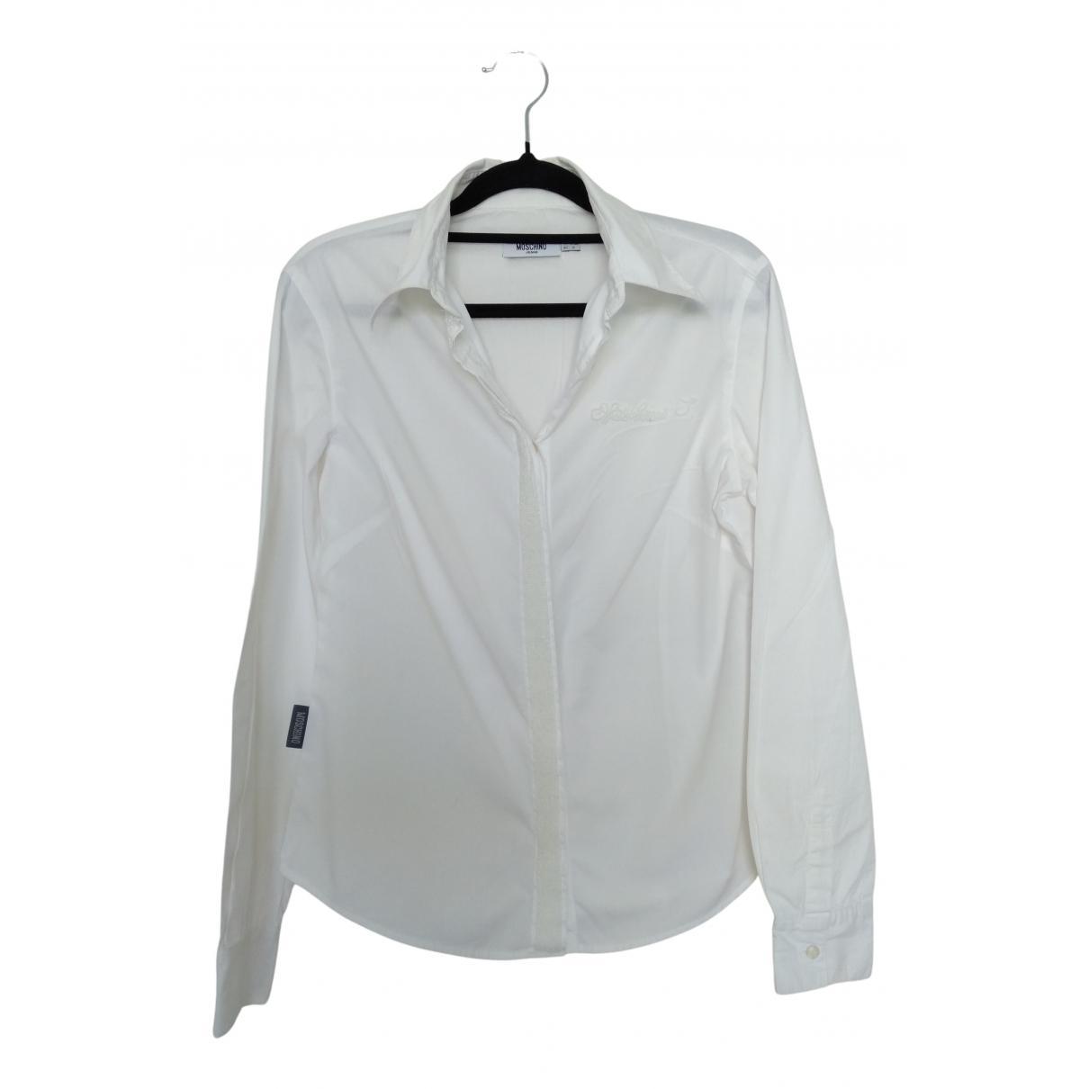 Moschino - Top   pour femme en coton - blanc