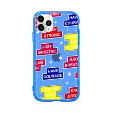 Letter & Tetris Pattern iPhone Case