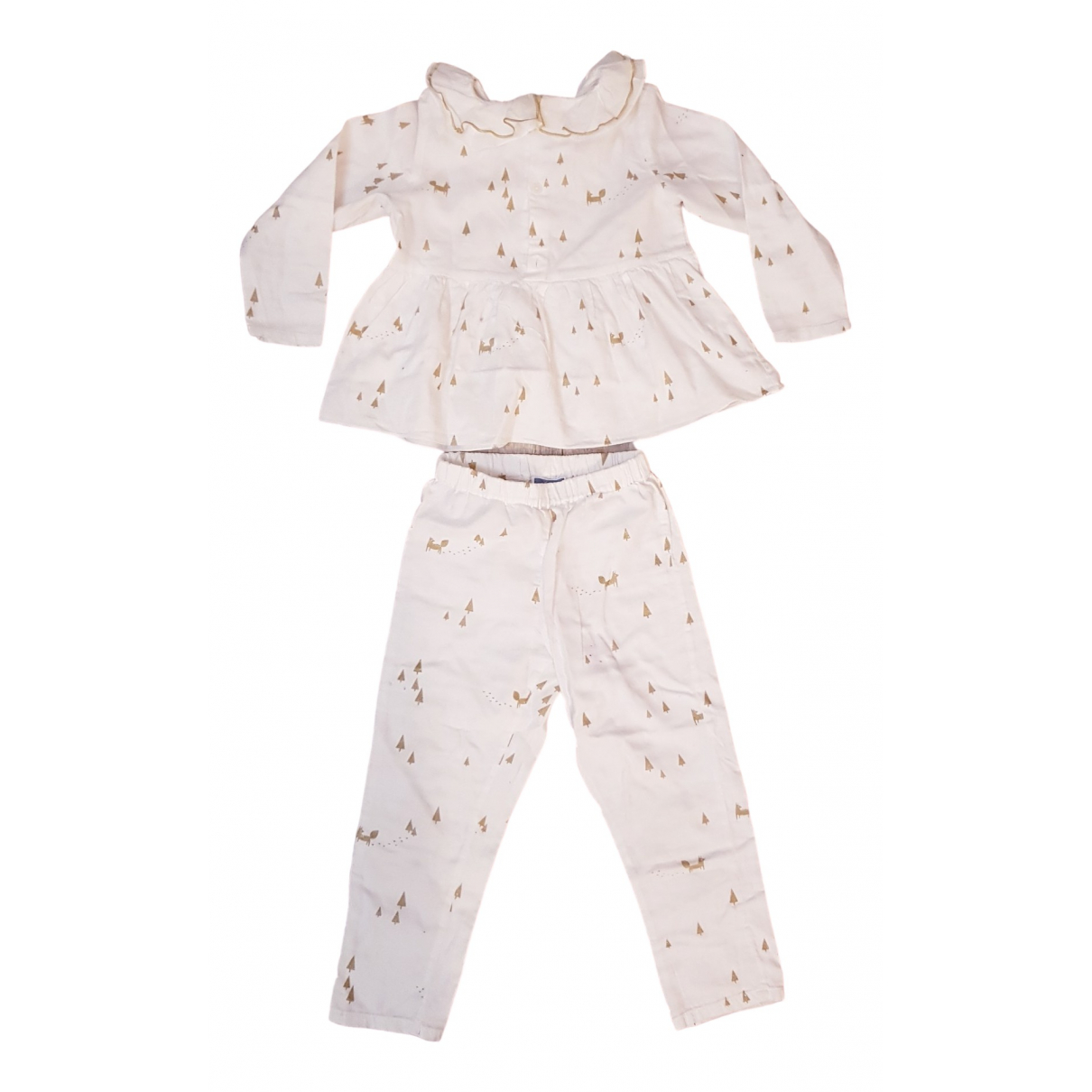 Jacadi - Les ensembles   pour enfant en coton - blanc