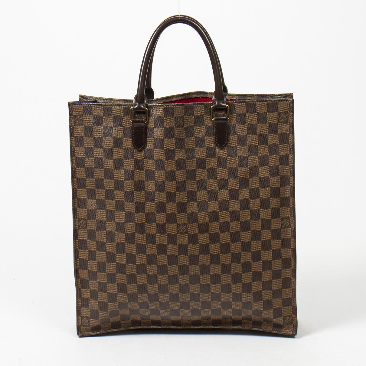 Louis Vuitton Plat Handtasche in  Braun Leder