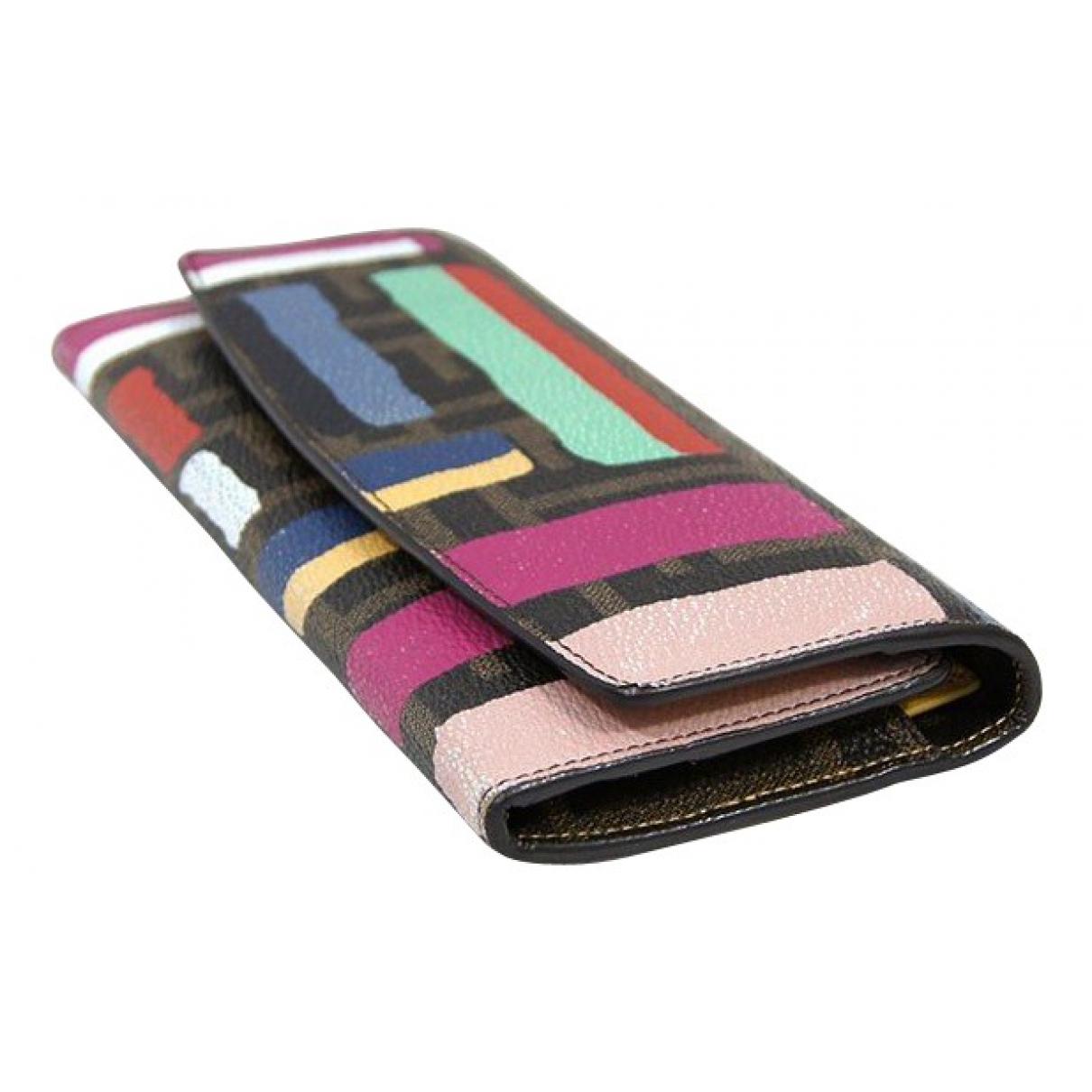 Fendi - Portefeuille   pour femme en toile - multicolore