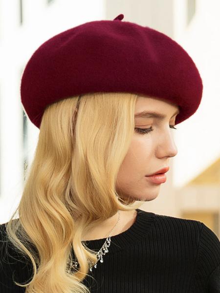 Milanoo Beret Fashion Wool Hats Caps For Women