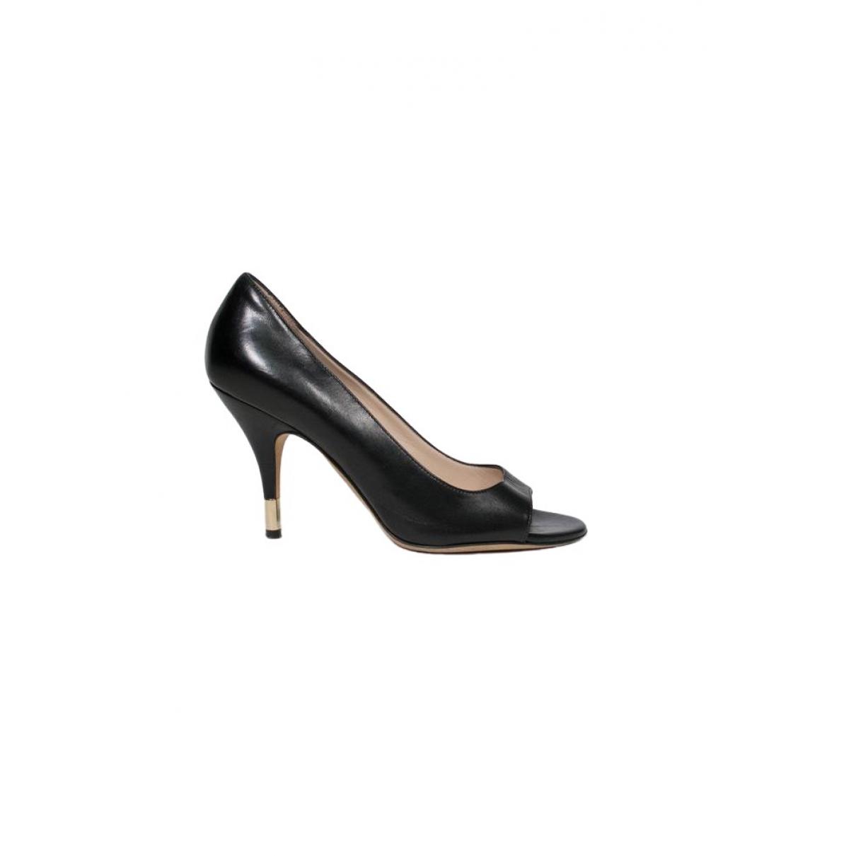 Dolce & Gabbana \N Black Leather Heels for Women 36 IT