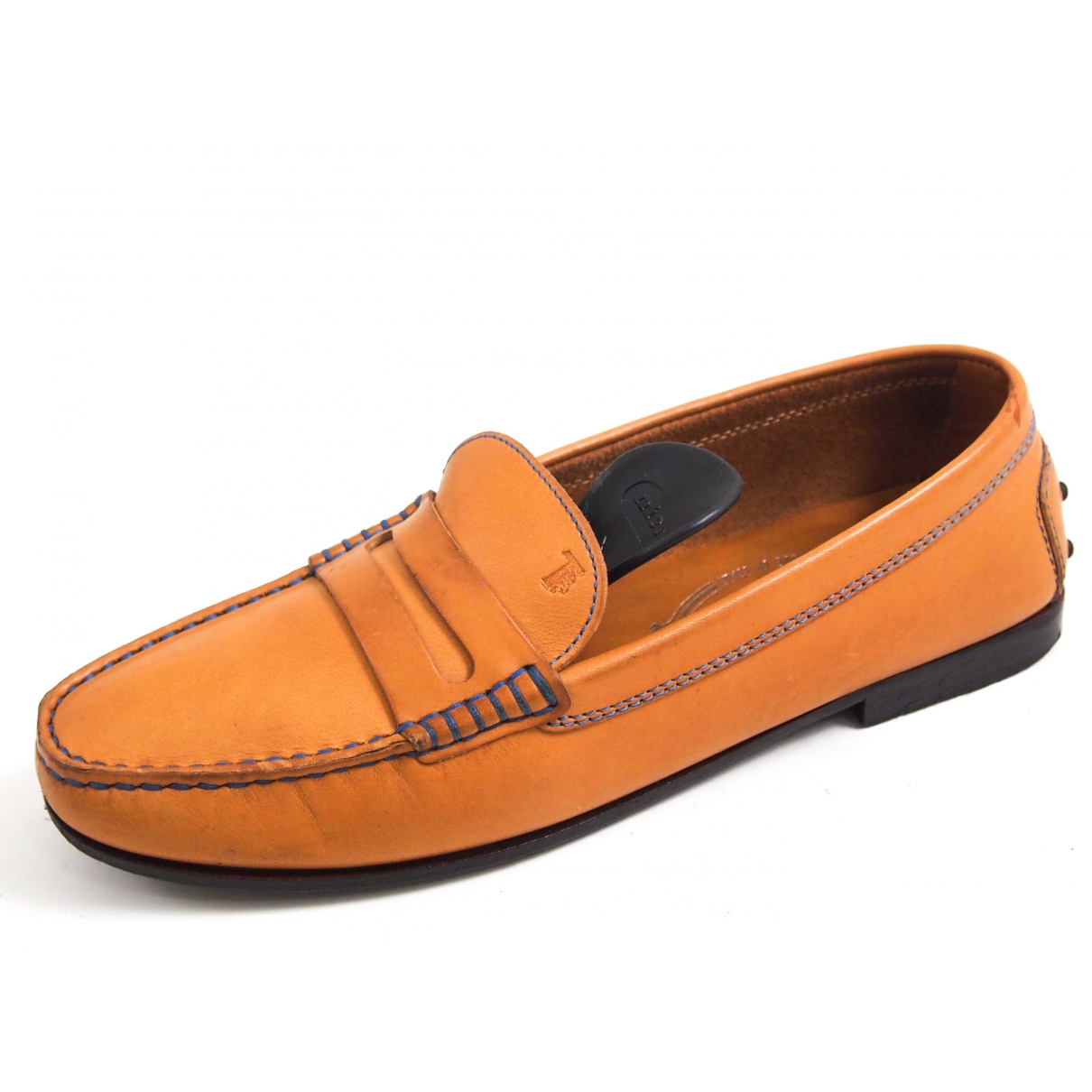 Tod's \N Orange Leather Flats for Women 36 EU