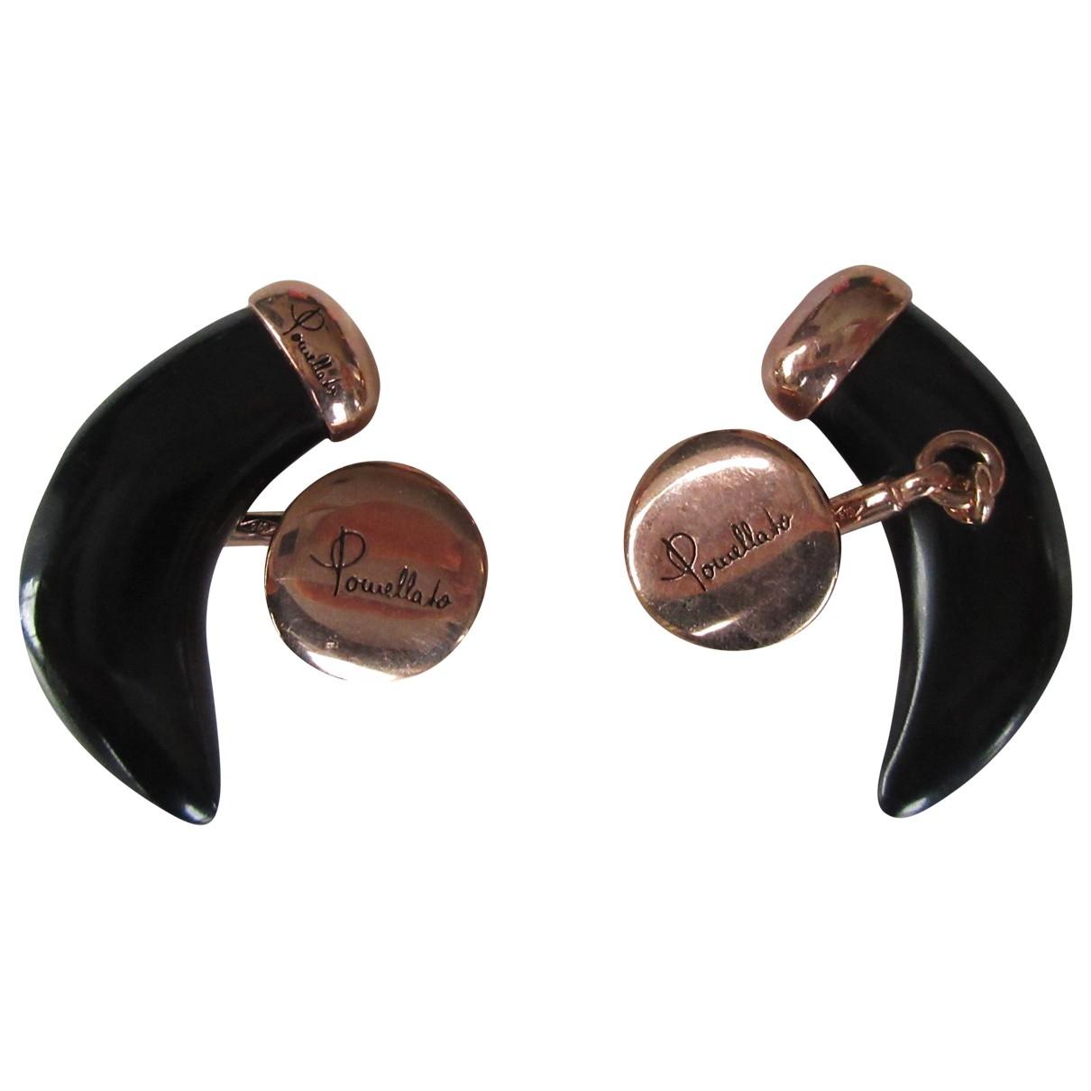 Pomellato \N Black Pink gold Cufflinks for Men \N