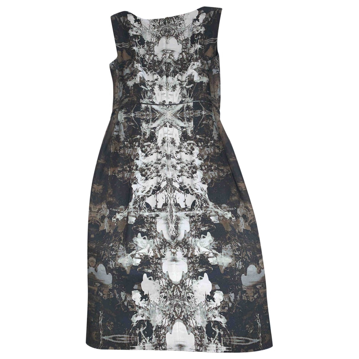 Boss \N Kleid in  Silber Baumwolle - Elasthan