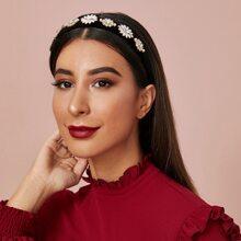 Rhinestone Decor Flower Decor Headband