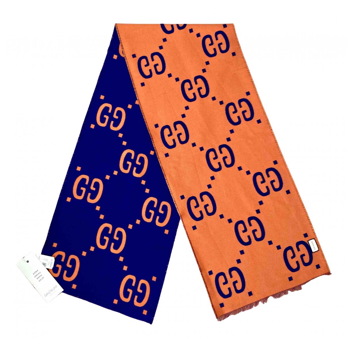 Gucci - Foulard   pour femme en laine - orange