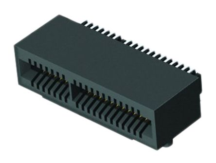 Samtec , MEC1-RA Right Angle FemalePCBEdge ConnectorSMT Mount, 60 Way, 2 Row, 1mm Pitch, 1.6A (2)