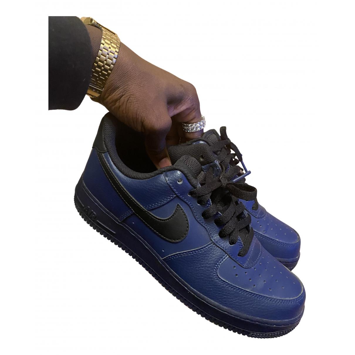Nike Air Force 1 Sneakers in  Marine Leder