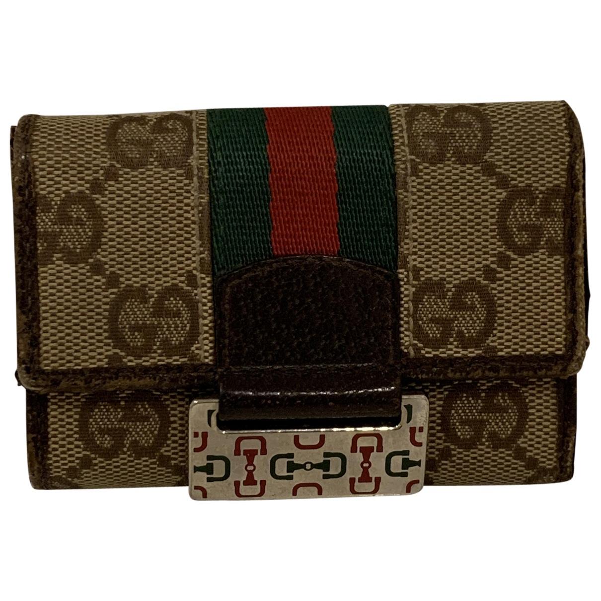 Gucci Ophidia Kleinlederwaren in  Beige Baumwolle