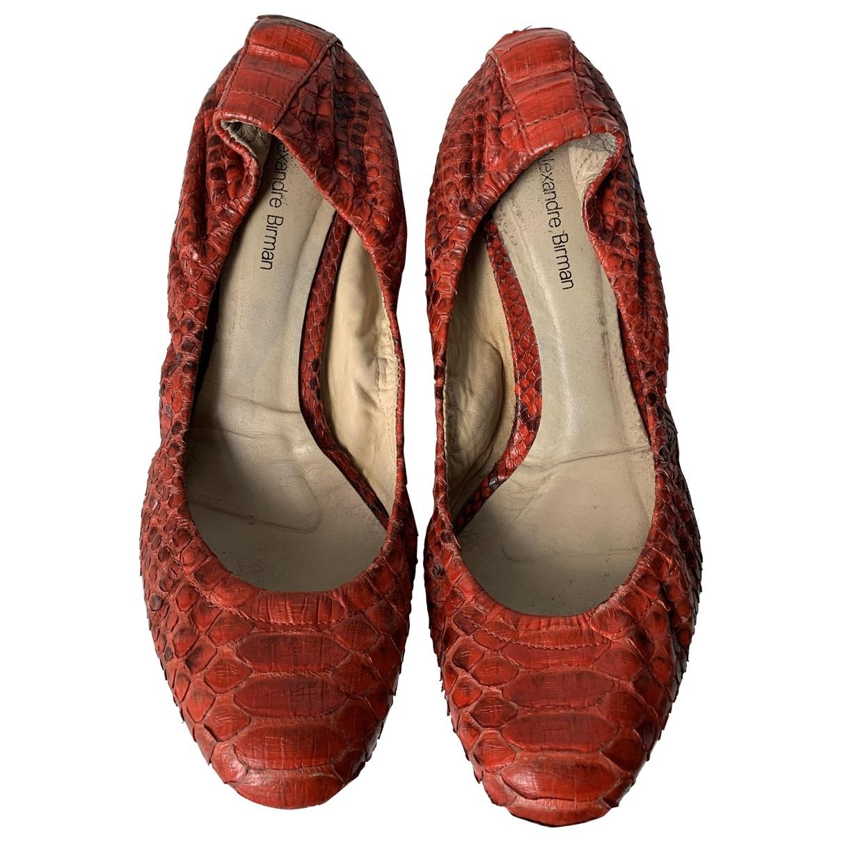Alexandre Birman - Ballerines   pour femme en python - rouge