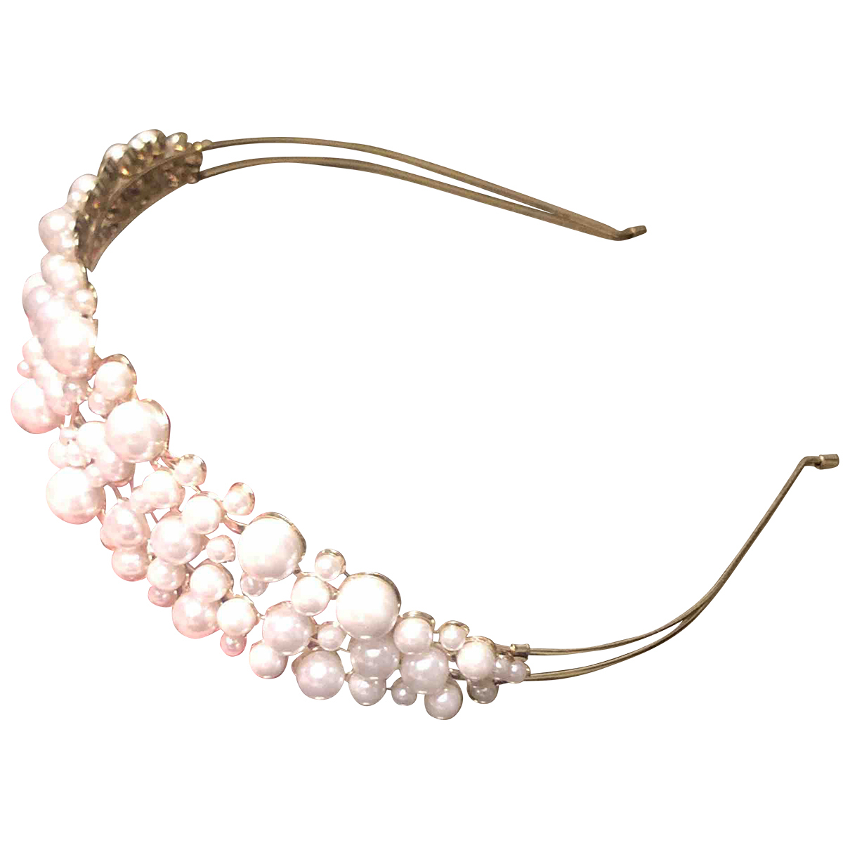 Non Signé / Unsigned N Gold Metal Hair accessories for Women N