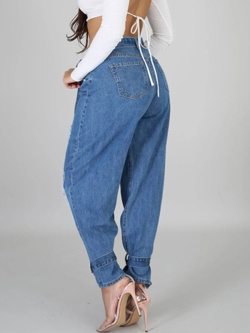 Ericdress Belt Loose Jeans