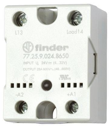 Finder 40 A SPNO Solid State Relay, Zero Crossing, Heatsink, 280 V ac Maximum Load