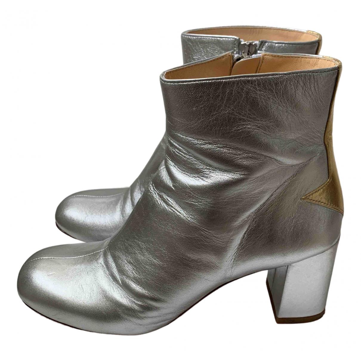 Camilla Elphick - Bottes   pour femme en cuir - argente