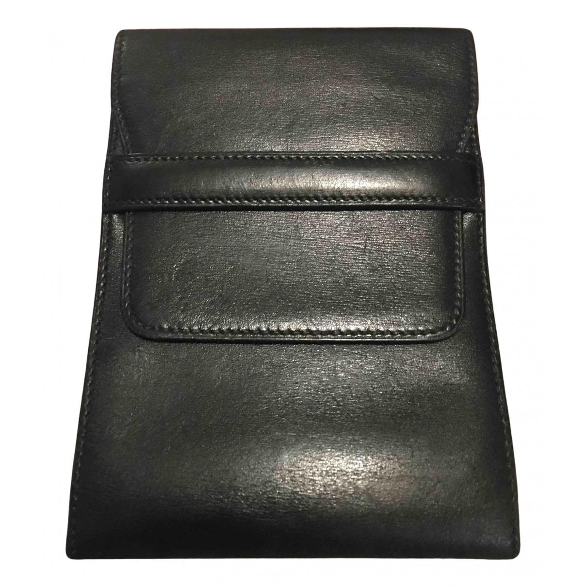 Hermès N Black Leather Small bag, wallet & cases for Men N