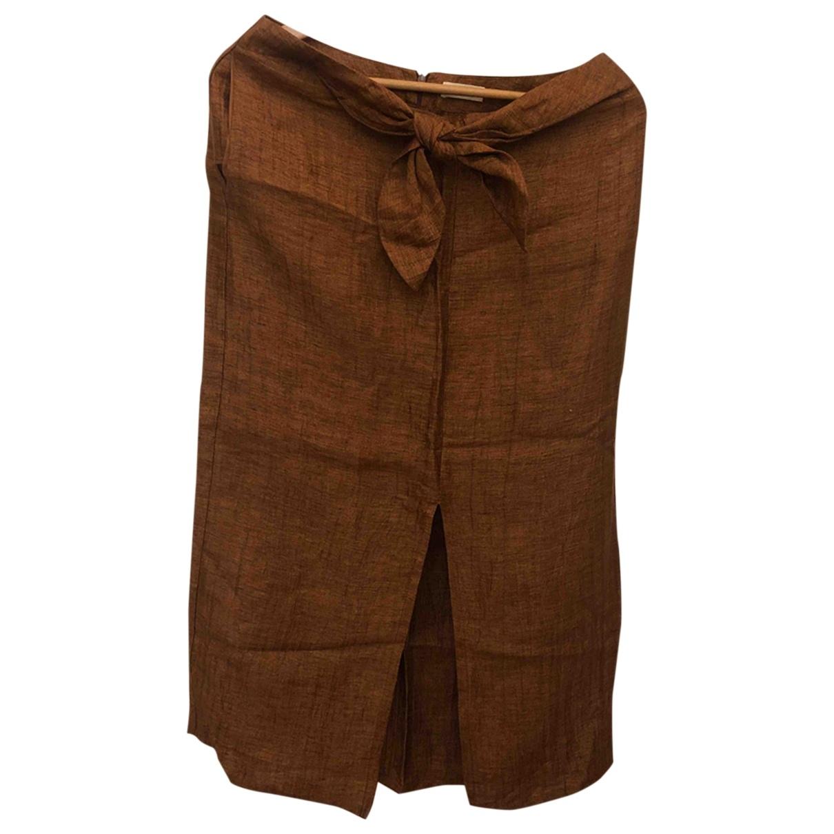 Masscob \N Brown Linen skirt for Women 36 FR