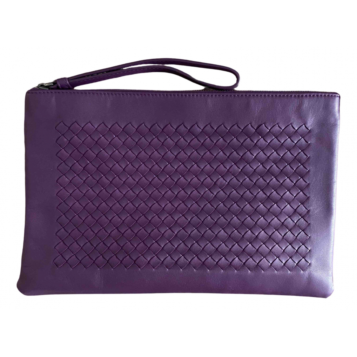 Bottega Veneta \N Clutch in  Lila Leder