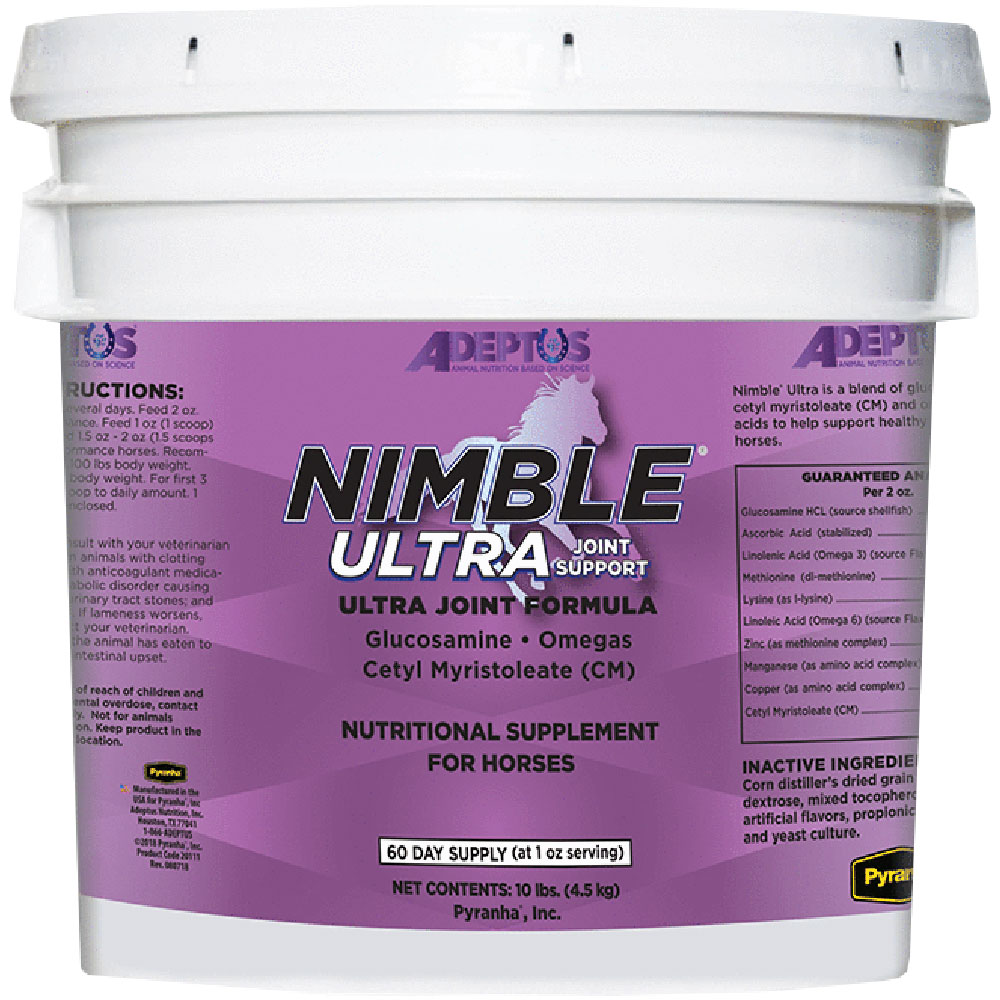 Adeptus Nimble Ultra Joint Support for Horses (10 lbs)