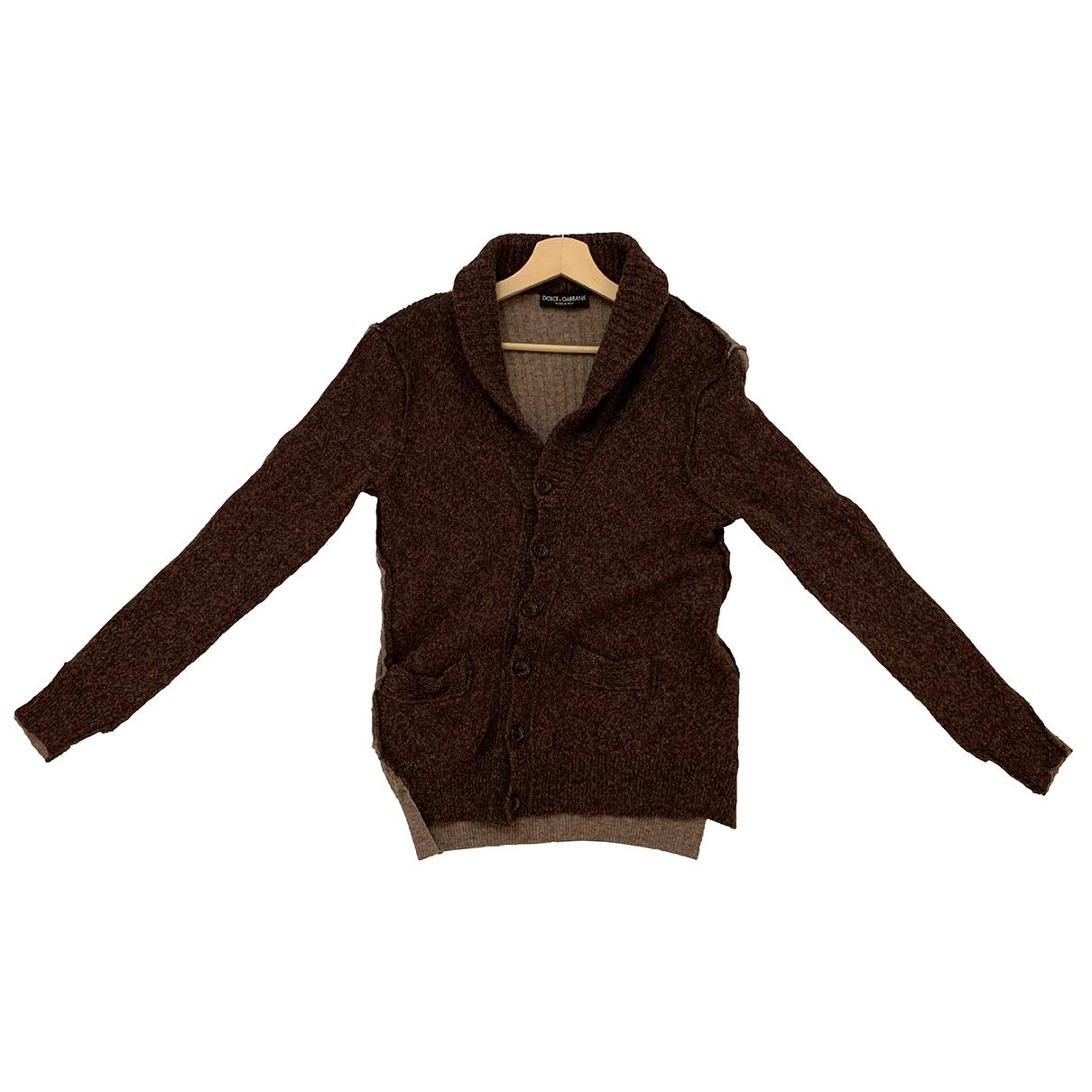 Dolce & Gabbana - Pulls.Gilets.Sweats   pour homme en laine - marron