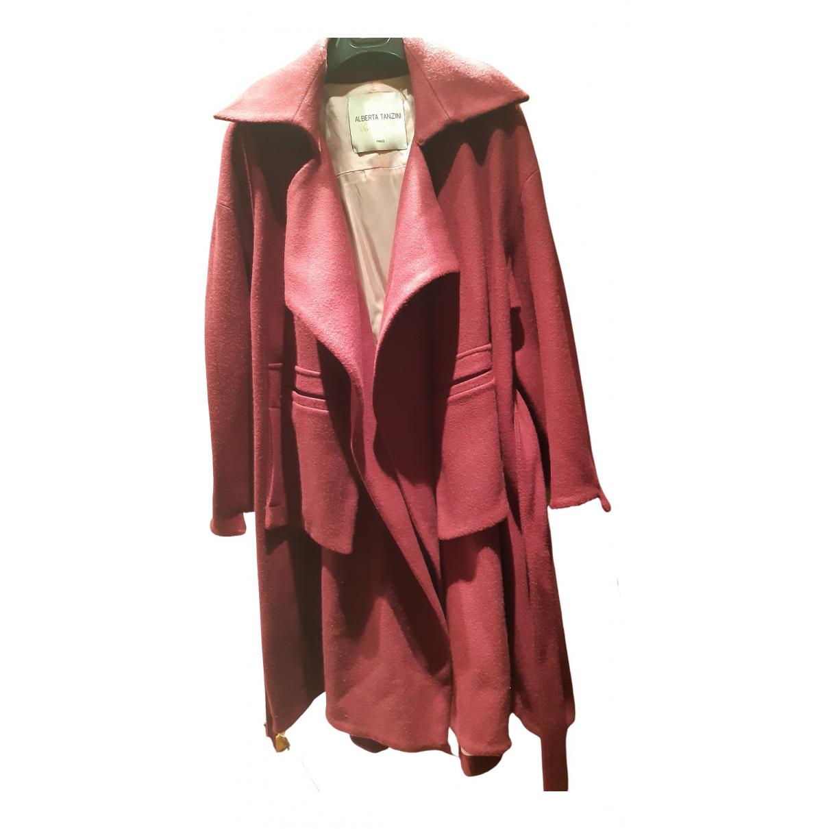 - Manteau   pour femme en laine - bordeaux
