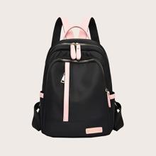 Pocket Side Curved Top Backpack