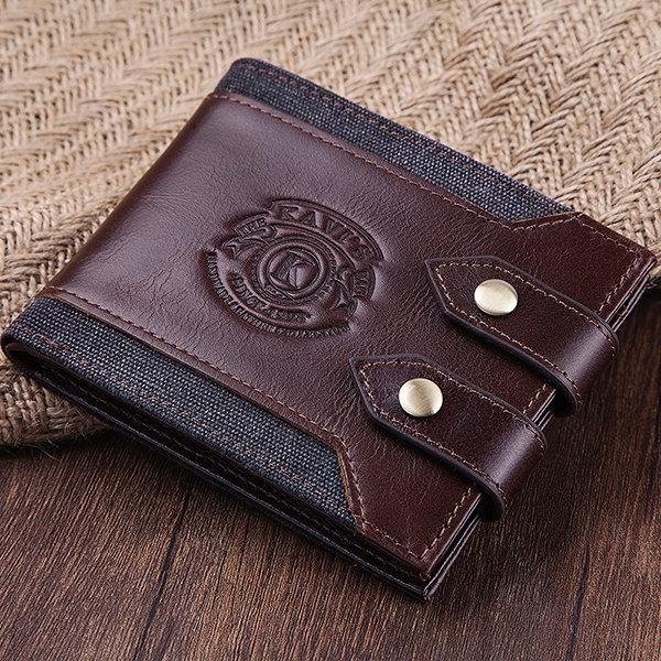 Men 7 Cards Vintage Purse Casual Genuine Leather Wallet
