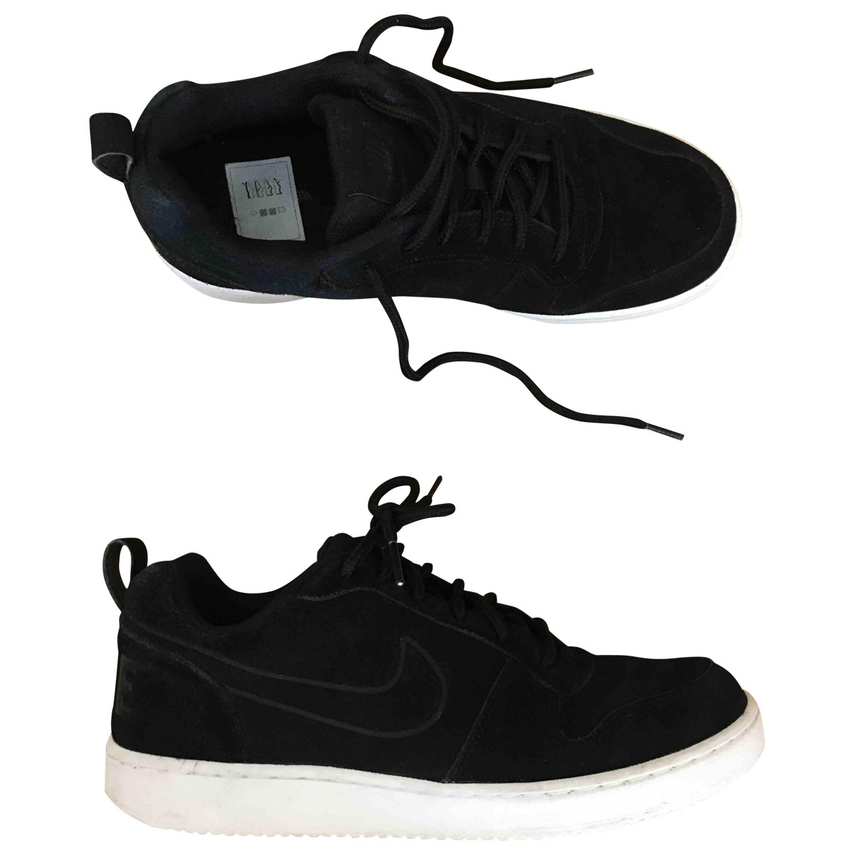 Nike \N Black Suede Trainers for Men 40.5 EU