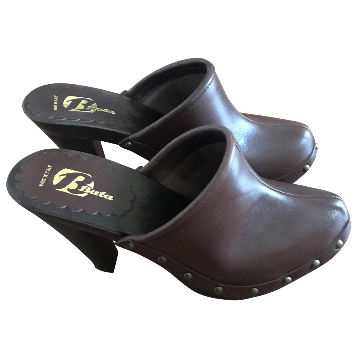 Non Signe / Unsigned \N Clogs in  Braun Leder