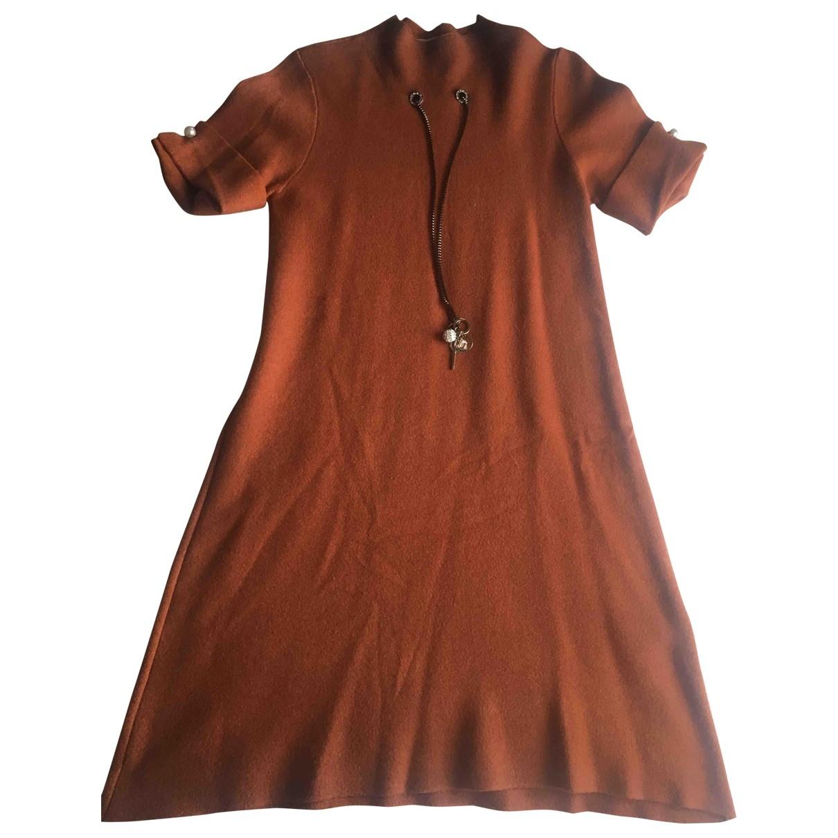 Non Signé / Unsigned Oversize Orange Cotton - elasthane dress for Women 38 IT