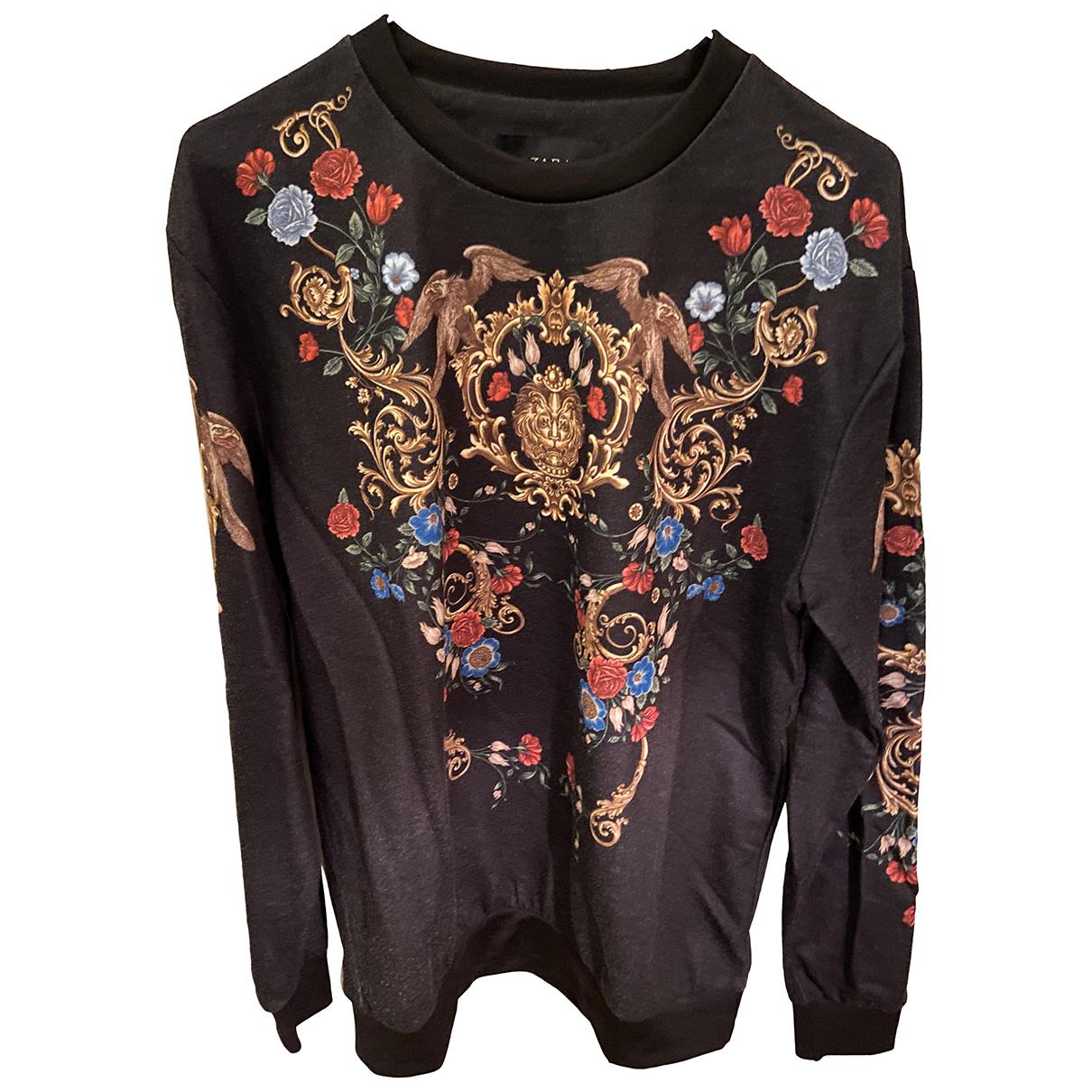 Zara \N Pullover.Westen.Sweatshirts  in  Schwarz Baumwolle