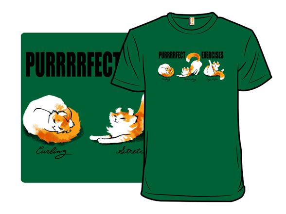 Purrfect Exercises T Shirt