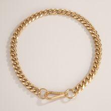 Halskette mit Kreis Dekor
