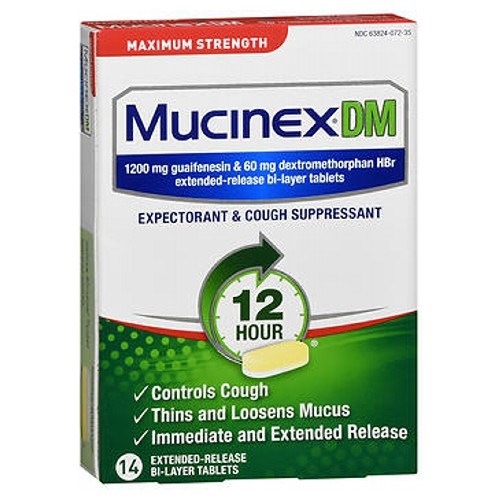 Mucinex Dm Expectorant Cough Suppressant Extended-Release 14 tabs by Mucinex Dm
