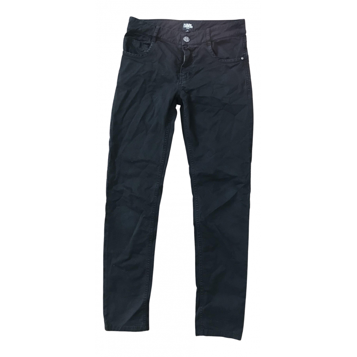 Karl Lagerfeld N Black Cotton Trousers for Kids 12 years - XS FR