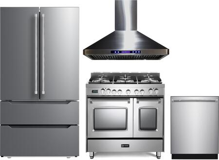 4 Piece Kitchen Appliances Package with VERF36CDSS 36