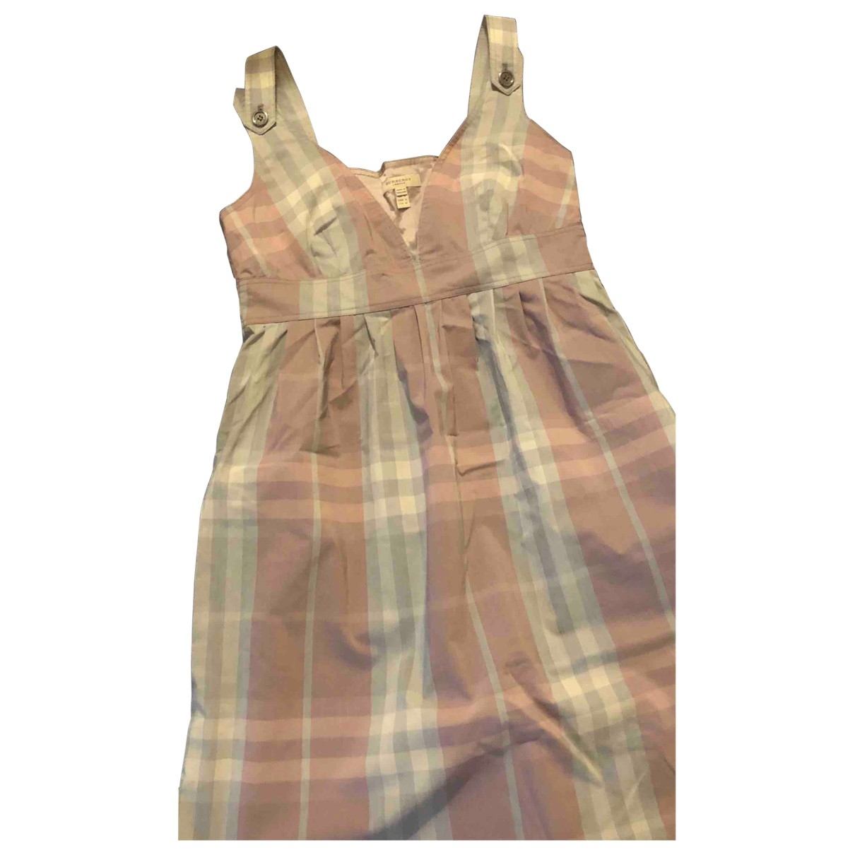 Burberry \N Blue Cotton dress for Women 8 UK