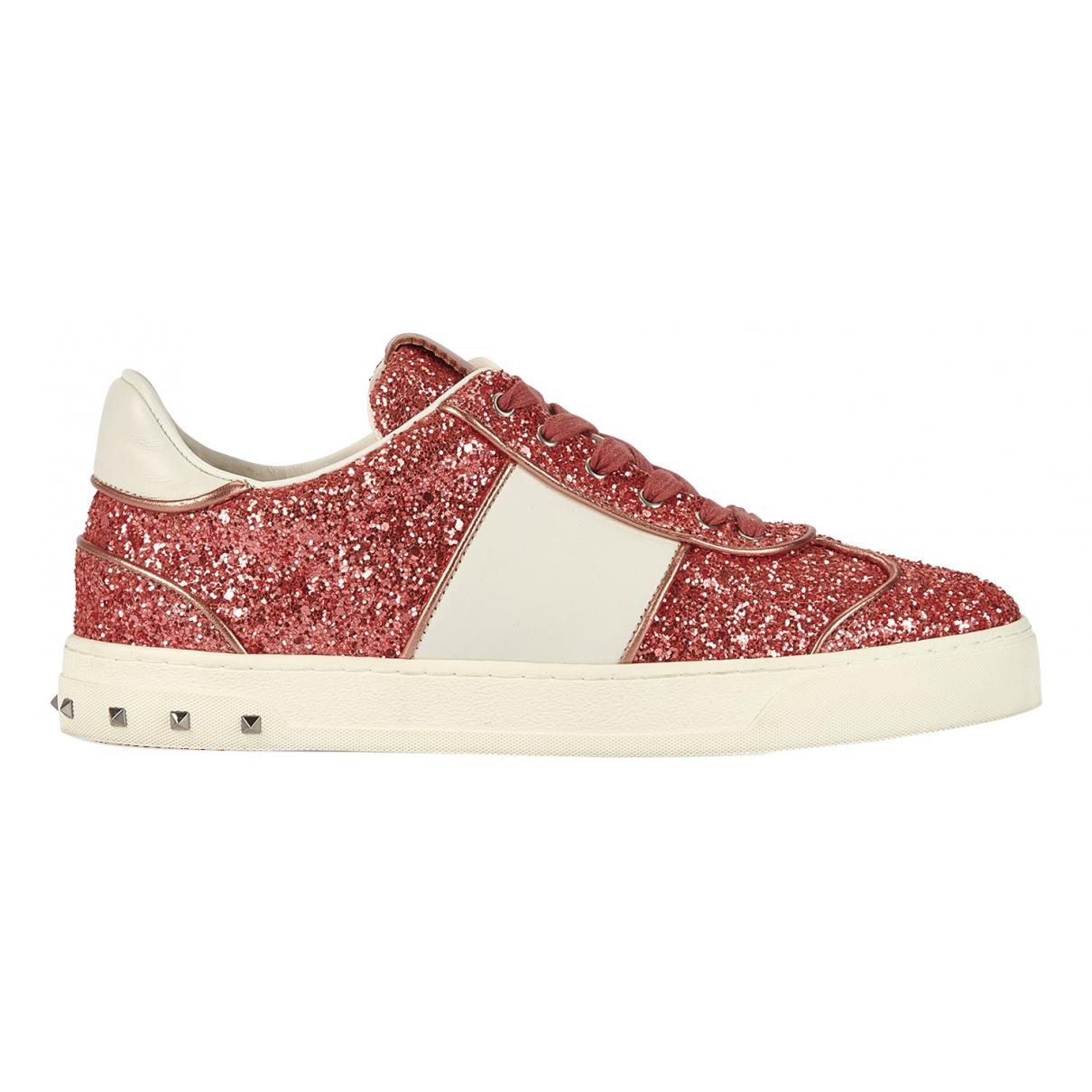 Valentino Garavani \N Sneakers in  Rosa Mit Pailletten