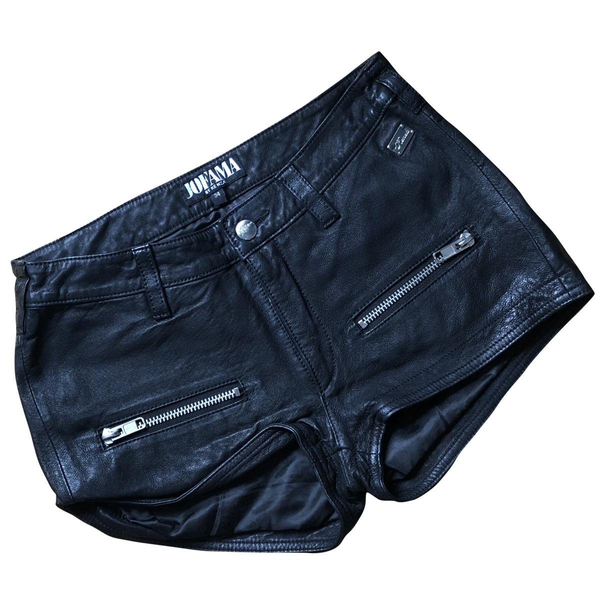 Jofama \N Black Leather Shorts for Women 34 FR