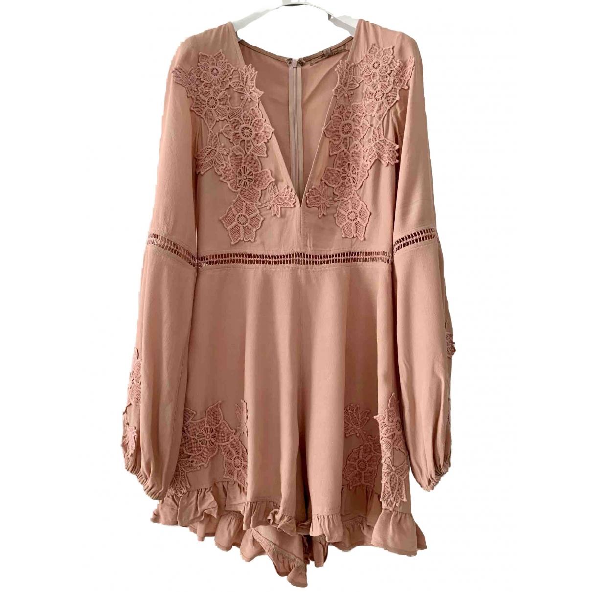 For Love & Lemons \N Pink jumpsuit for Women S International