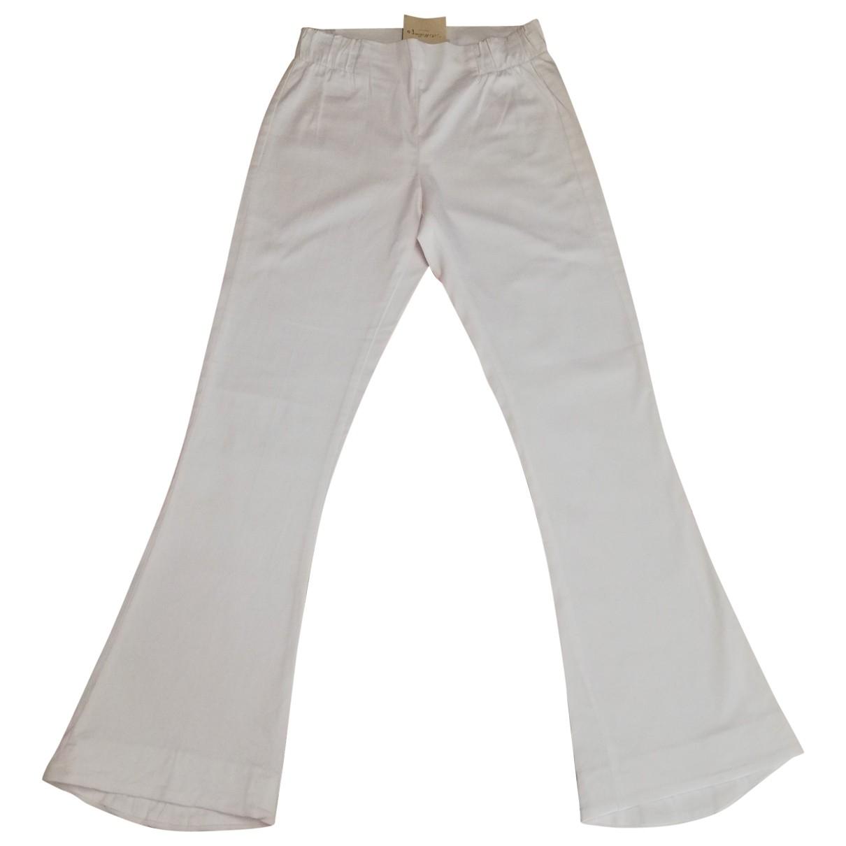 Pantalon en Algodon Blanco Non Signe / Unsigned