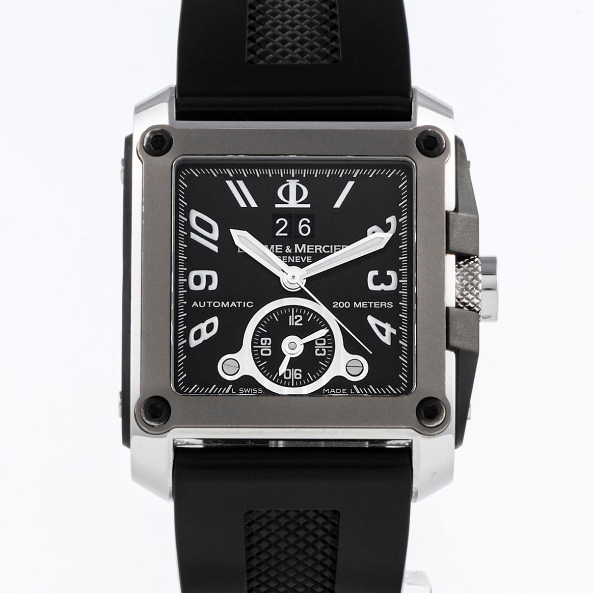 Baume Et Mercier Hampton Uhr in  Schwarz Stahl