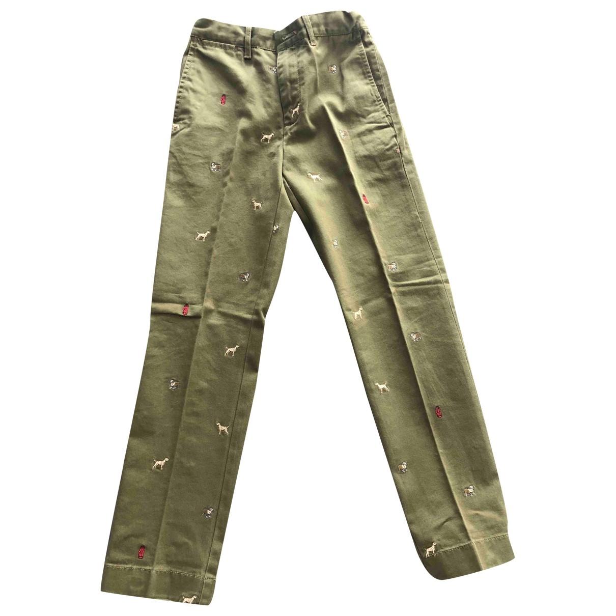 Pantalones en Algodon Caqui J.crew