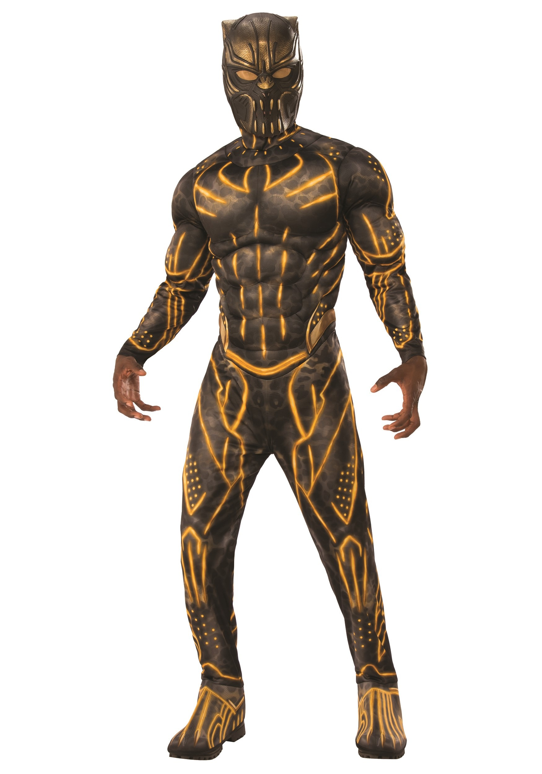 Deluxe Black Panther Killmonger Battle Suit Costume for Adults