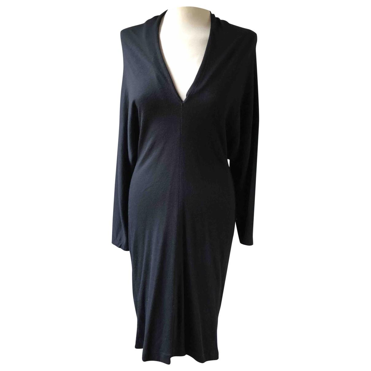 Lanvin \N Black Linen dress for Women 42 FR